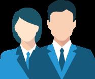 image représentant 2 personnes en costard pour démontrer les avantages de la solution Notys